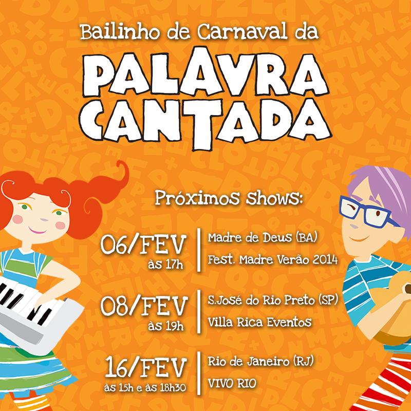 Palavra Cantada cd Carnaval Palavra Cantada